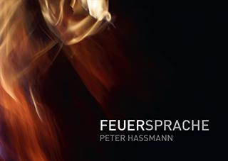 """Titelseite des Kunstbuchs """"Feuersprache"""" von Peter Hassmann"""